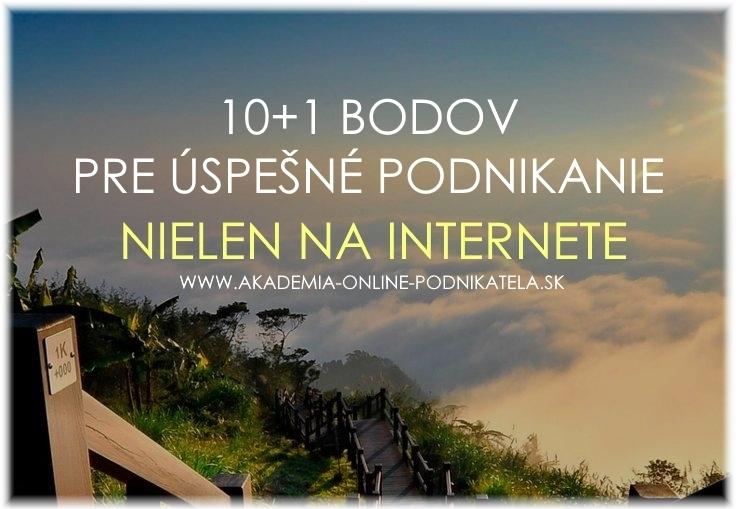 10+1 bodov pre úspešné podnikanie – nielen na internete